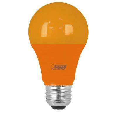 40W Equivalent A19 Orange Household LED Light Bulb (Case of 4)