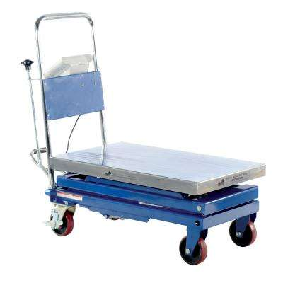 500 lb. 32 in. x 19.5 in. Steel Scissor Cart with Scale