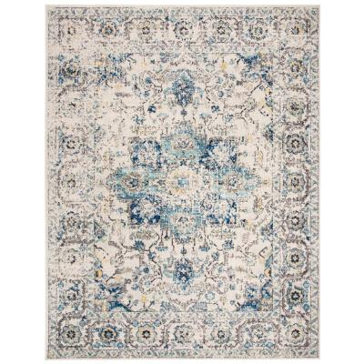 Turquoise Ivory Area Rugs Rugs The Home Depot
