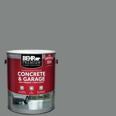 1 gal. Slate Gray Self-Priming 1-Part Epoxy Satin Interior/Exterior Concrete and Garage Floor Paint