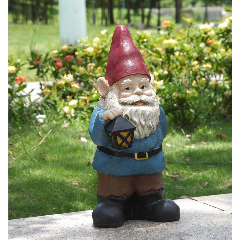 Gnome Holds Lantern