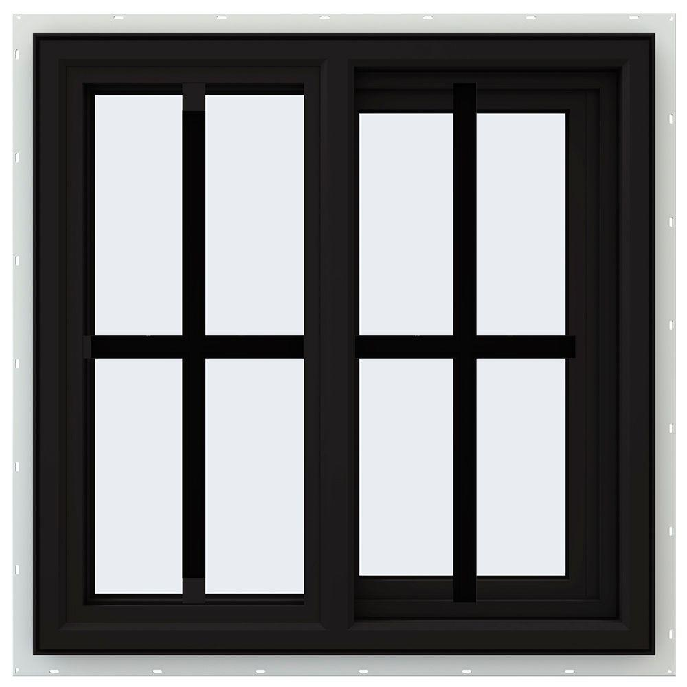 Jeld wen 23 5 in x 23 5 in v 4500 series right hand for Right window