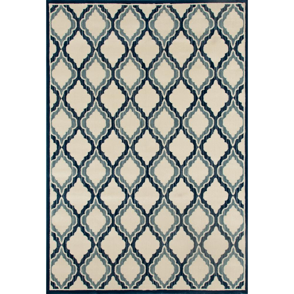 Milan Hopscotch Peacock Blue 9 ft. 2 in. x 12 ft. 6 in. A...