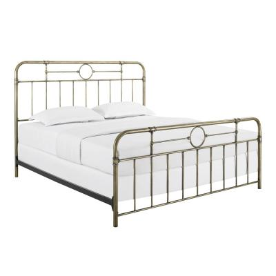Rustic Bohemian King Size Metal Pipe Bed - Antique Bronze