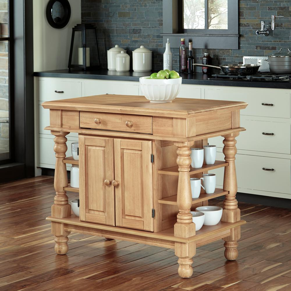 Home Styles Americana Maple Kitchen Island With Storage
