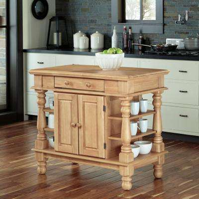 Americana Maple Kitchen Island With Storage