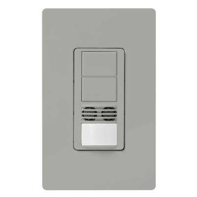 Maestro Dual-Circuit Dual-Tech Motion Sensor switch, 6A, Single-Pole or 3-Way, Gray