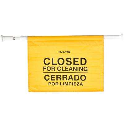 18 in. Safety Hanging Sign with Multi-Lingual Closed for Cleaning Imprint