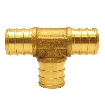 3/4 in. x 3/4 in. x 3/4 in. Brass PEX Barb Tee (50-Pack)