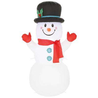 3.5 ft. Pre-Lit Airblown Inflatable  Snowman
