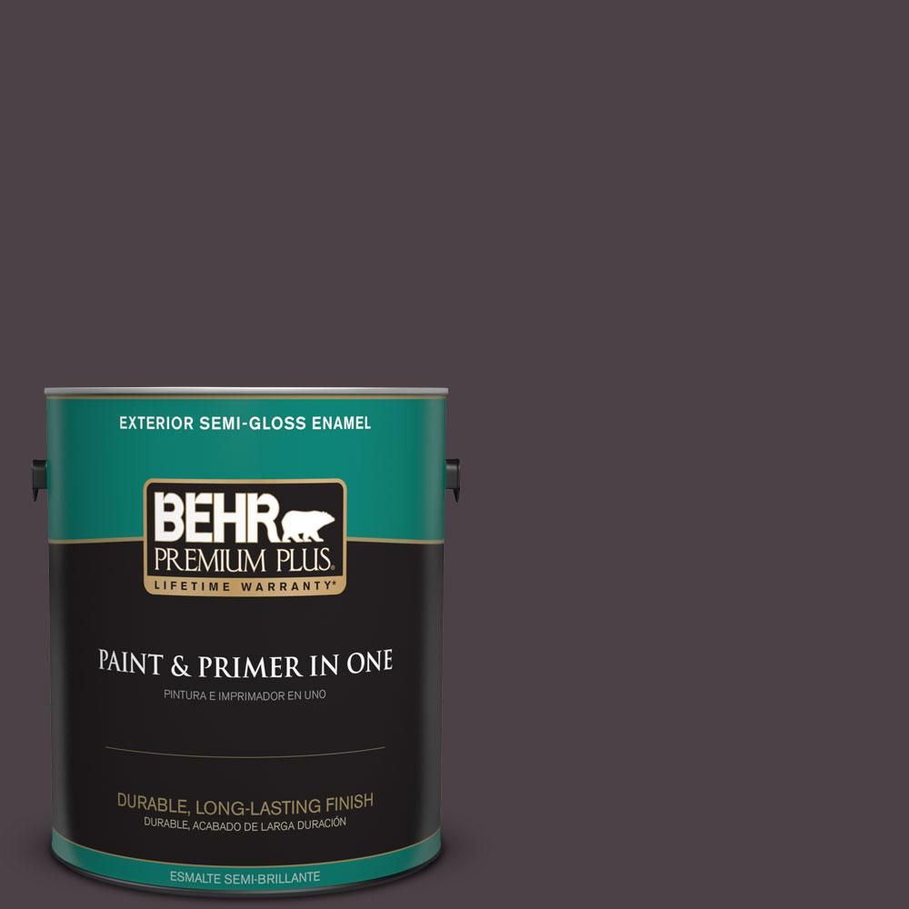 1-gal. #BXC-09 Dark Burgundy Wine Semi-Gloss Enamel Exterior Paint