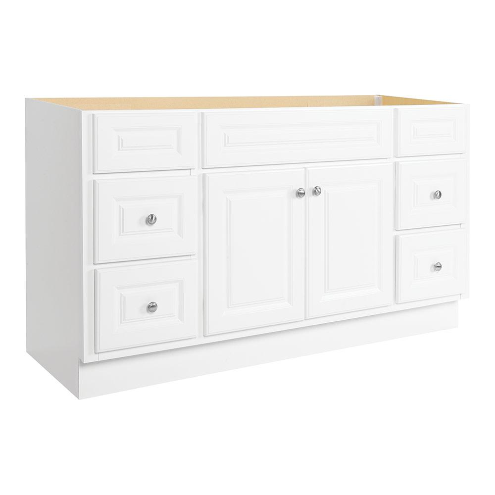 Glacier Bay Hampton 60 In. W X 21 In. D X 33 1/2 In. H Bath Vanity Cabinet  Only In White HWH60DY   The Home Depot