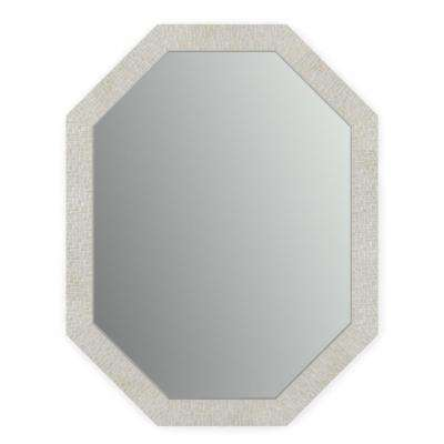 26 in. x 34 in. (M2) Octagonal Framed Mirror with Standard Glass and Easy-Cleat Float Mount Hardware in Stone Mosaic