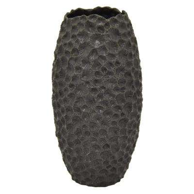 10 in. Black Ceramic Vase