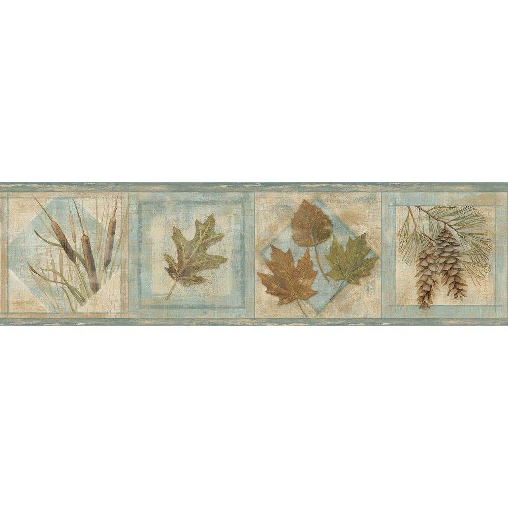 Chesapeake seminole greenleaf wallpaper border tll01581b for Wallpaper borders for your home