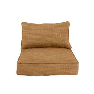 Greystone Replacement Outdoor Lounge Chair and Motion Lounge Chair Cushion in Toffee