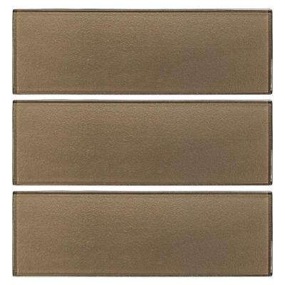 Aluminum 4 in. x 12 in. Glass Wall Tile (1 sq. ft./ pack)