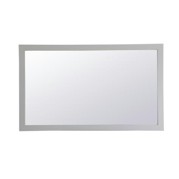 Medium Rectangle Grey Contemporary Mirror (36 in. H x 60 in. W)