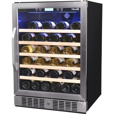 Premium Single Zone 52-Bottle Built-In Freestanding Fridge Under Counter Refrigerator Wine Cooler - Stainless Steel