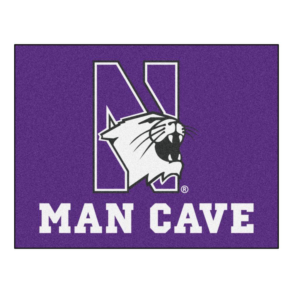 NCAA Northwestern University Purple Man Cave 3 ft. x 4 ft. Area Rug
