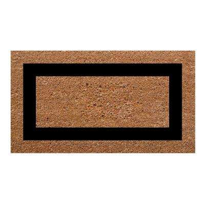 Single Picture Frame Black 20 in. x 36 in. SuperScraper Plain Door Mat