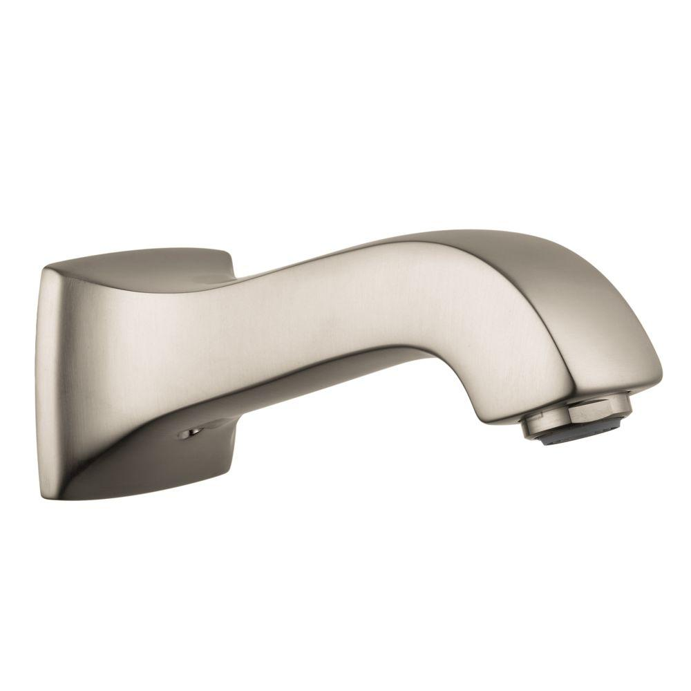 Metris C Tub Spout in Brushed Nickel (Valve Not Included)