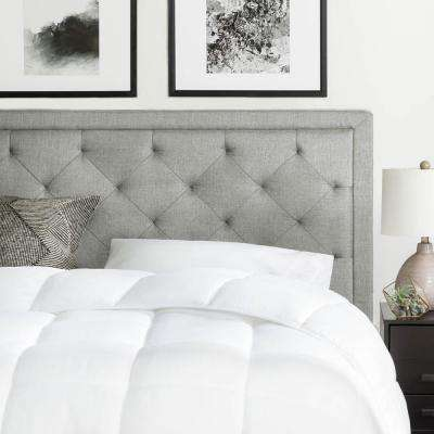 Upholstered Stone Queen with Diamond Tufting Headboard