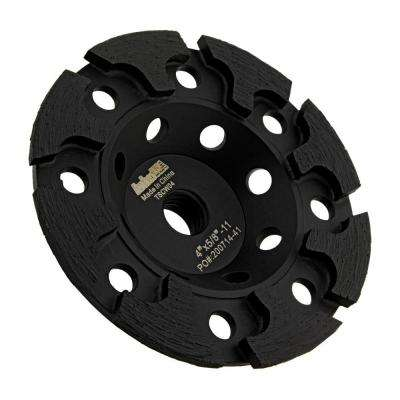 5/8 in. -11 Thread T-Segmented Diamond Grinding Cup Wheel 4 in. for Concrete Grinding