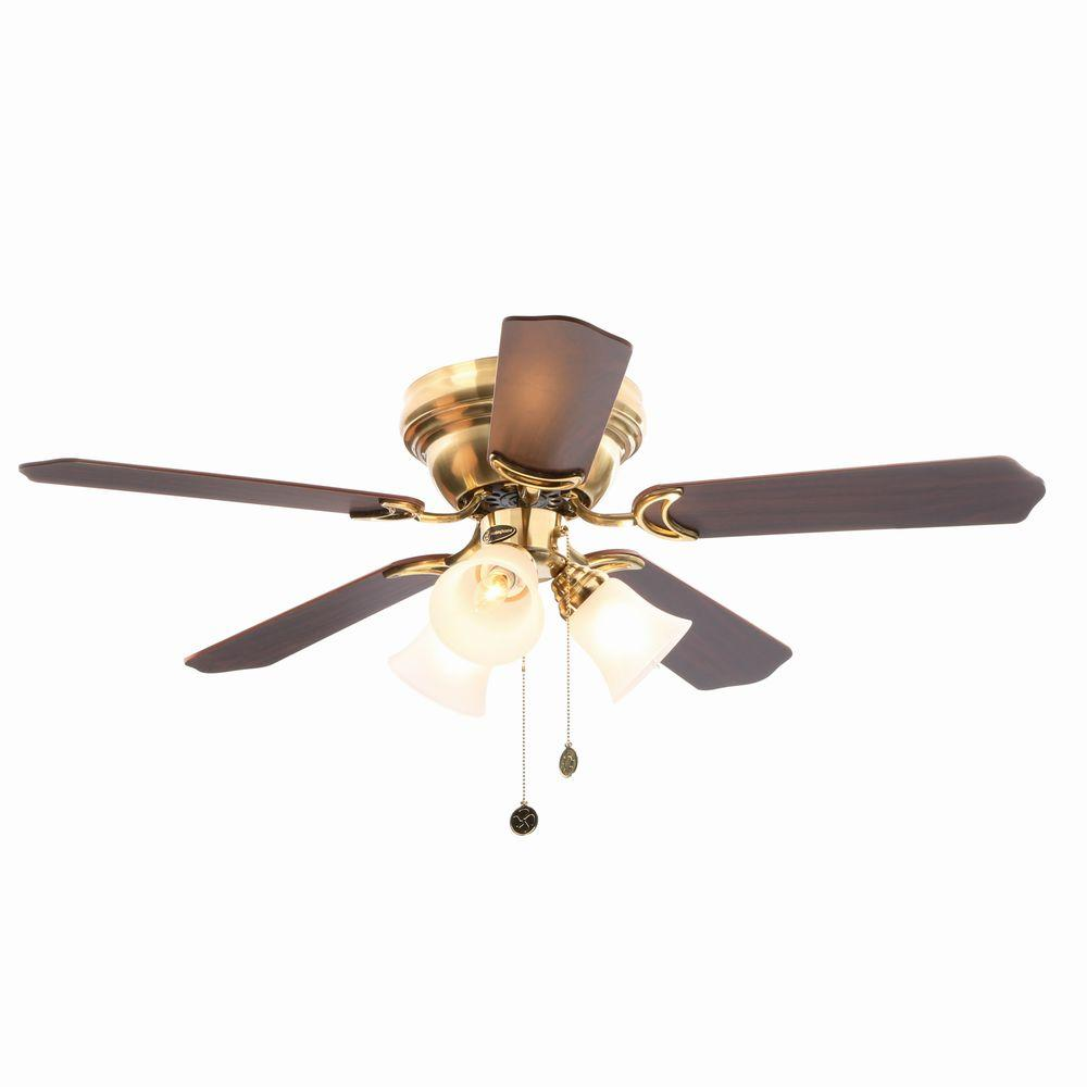 Westinghouse Contempra Trio 42 in. Satin Brass Ceiling Fan