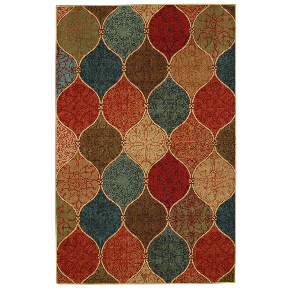 Mohawk Home Traditional Jewel Rug: Mohawk Home Riza Tile Fret Multi 5 Ft. X 7 Ft. Area Rug
