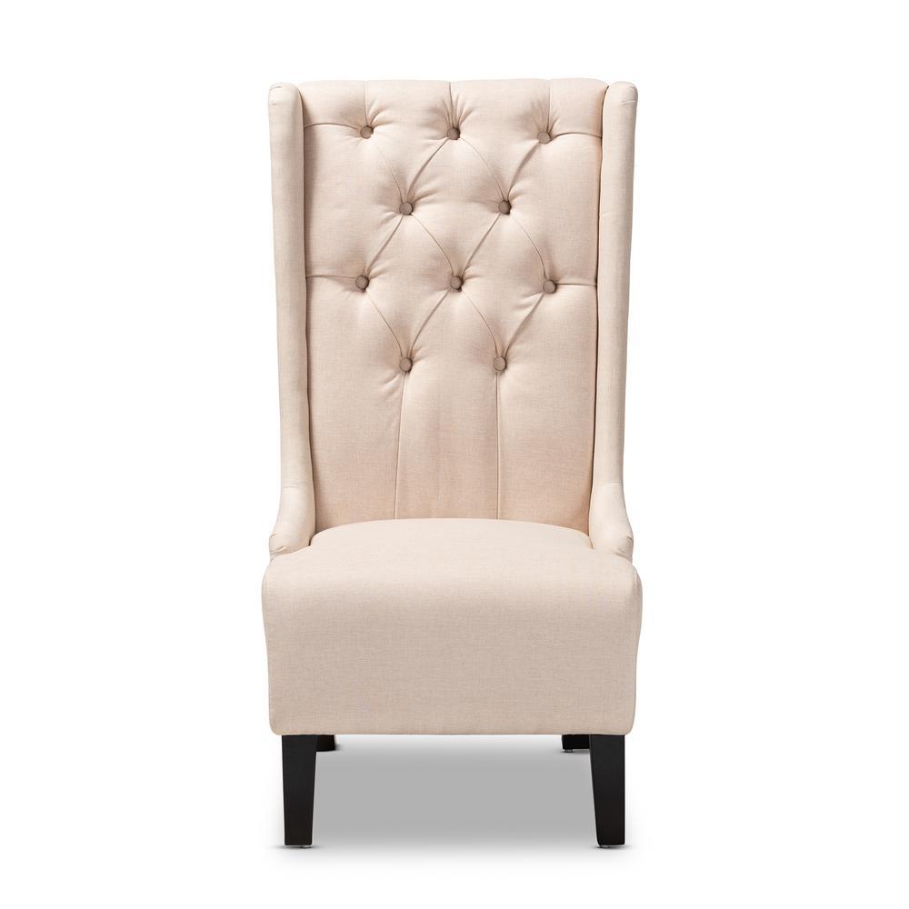 Dorais Beige Fabric Accent Chair