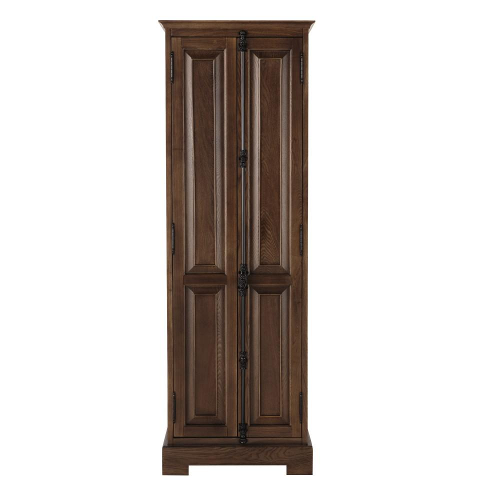 Home Decorators Collection Clinton 24 in. W Linen Cabinet in Antique Coffee