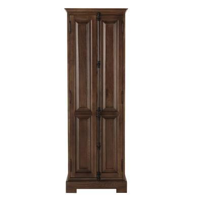 Clinton 24 in. W Linen Cabinet in Antique Coffee