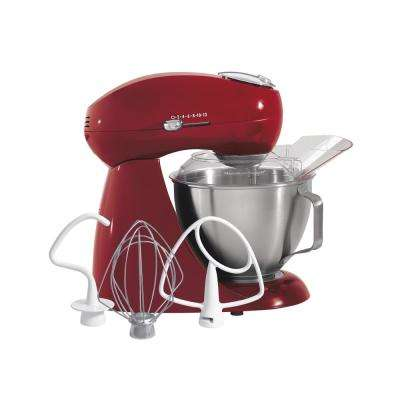 Eclectrics 4.5 Qt. Red All-Metal Stand Mixer