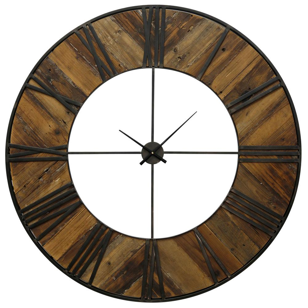 StyleCraft Transitional Natural, Black Roman Numeral Analog Clock was $396.99 now $159.92 (60.0% off)