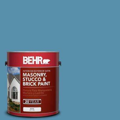 1 gal. #S500-5 Treasure Map Satin Interior/Exterior Masonry, Stucco and Brick Paint