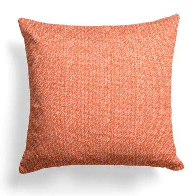 Woven Rust Square Outdoor Throw Pillow