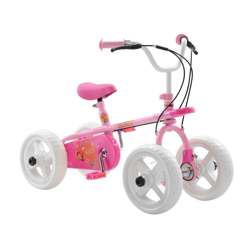 Kiss Kid's Cycle, 10 in. Wheels, 2, 3 or 4-Wheel Design,