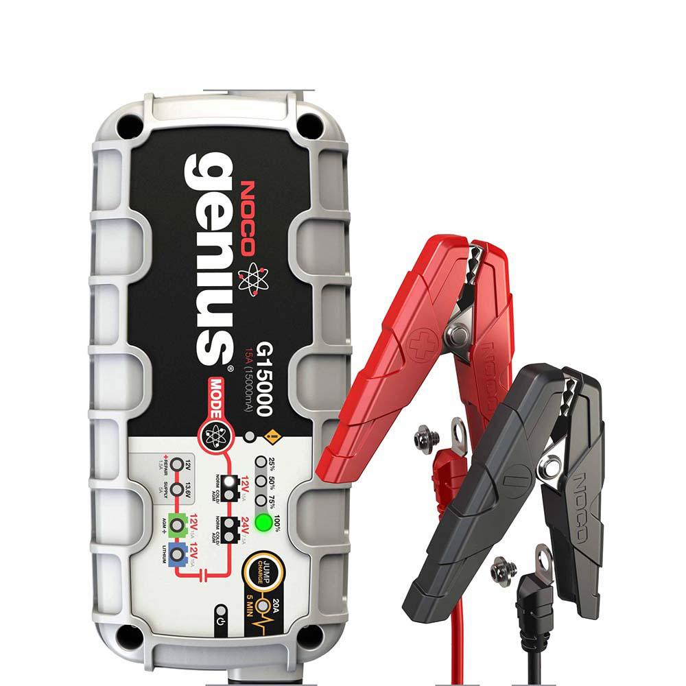 NOCO 15 Amp UltraSafe Battery Charger with JumpCharge Engine Start