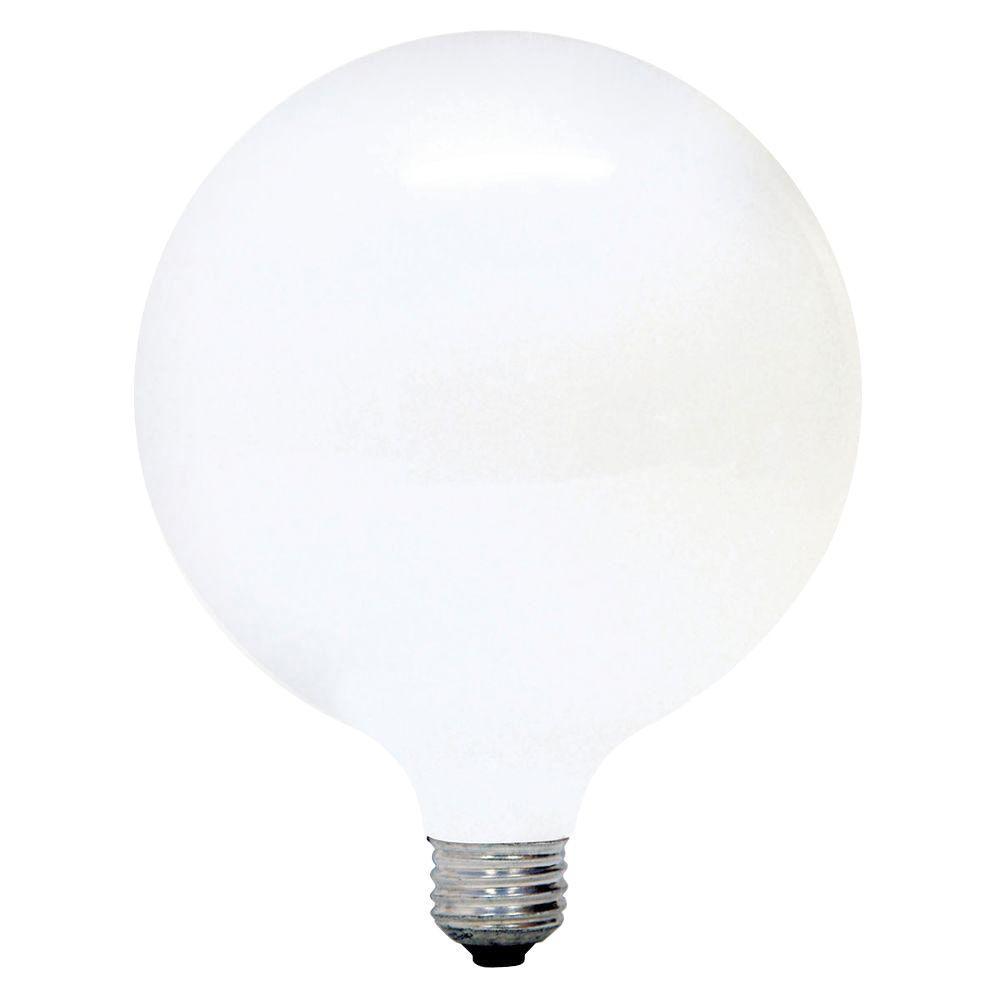 Ge 60 Watt Incandescent G40 Globe Soft White Light Bulb 60g40 W Tp3 The Home Depot