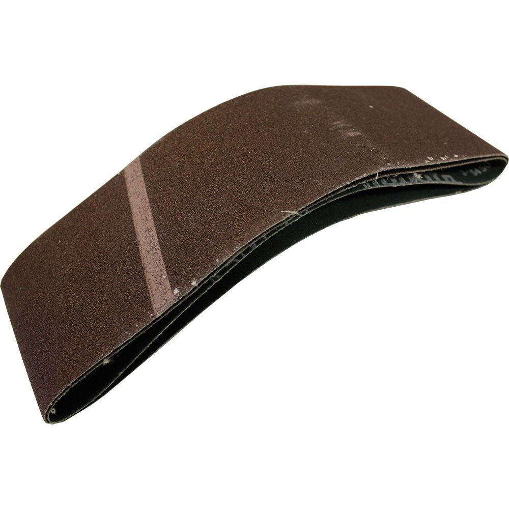 3 in. x 21 in. 60-Grit Abrasive Belt (2-Pack)