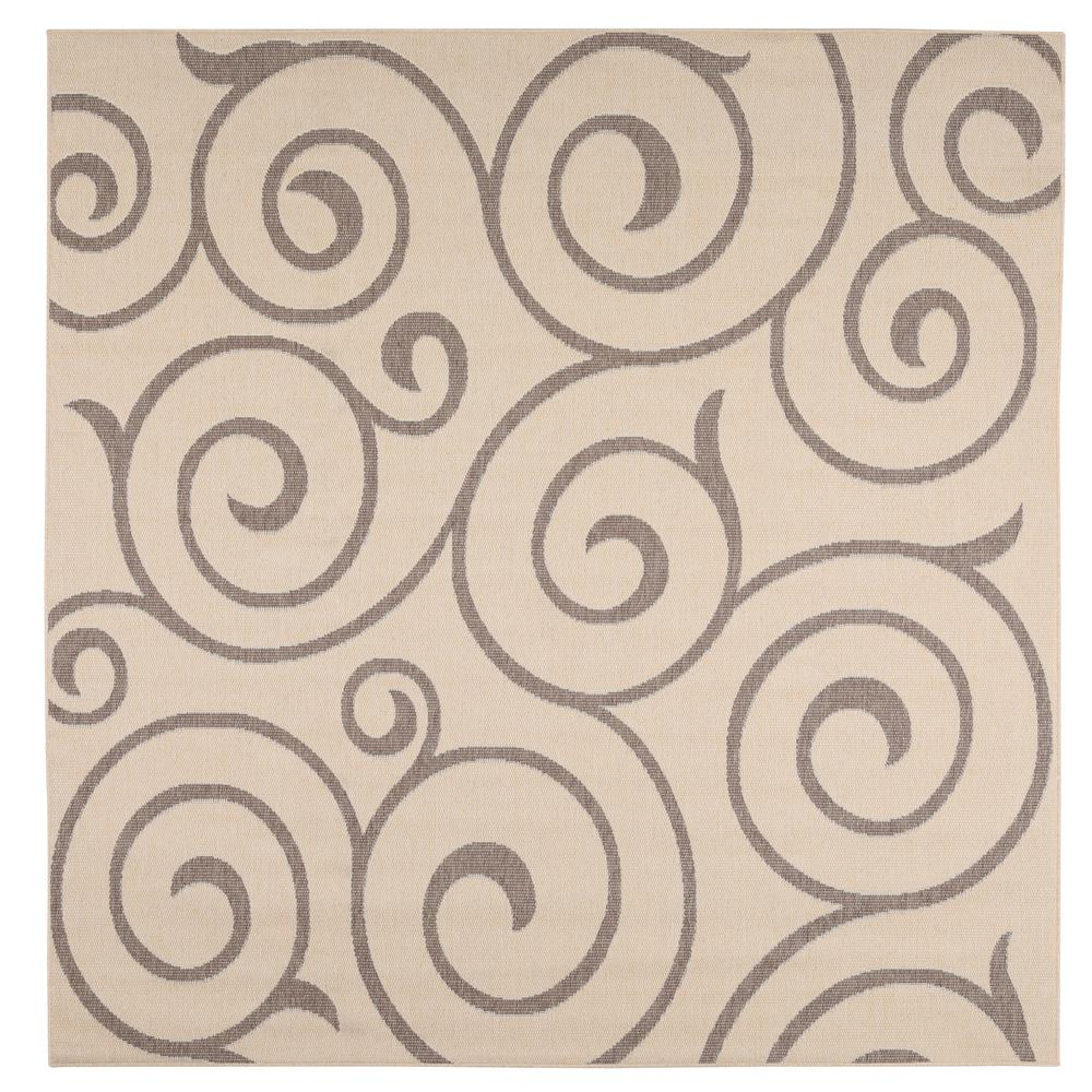 Home Decorators Collection Whirl Cocoa/Natural 9 ft. x 9 ft. Square ...