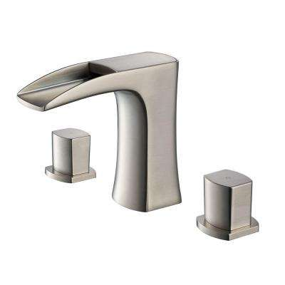 Fortore 8 in. Widespread 2-Handle Low-Arc Bathroom Faucet in Brushed Nickel