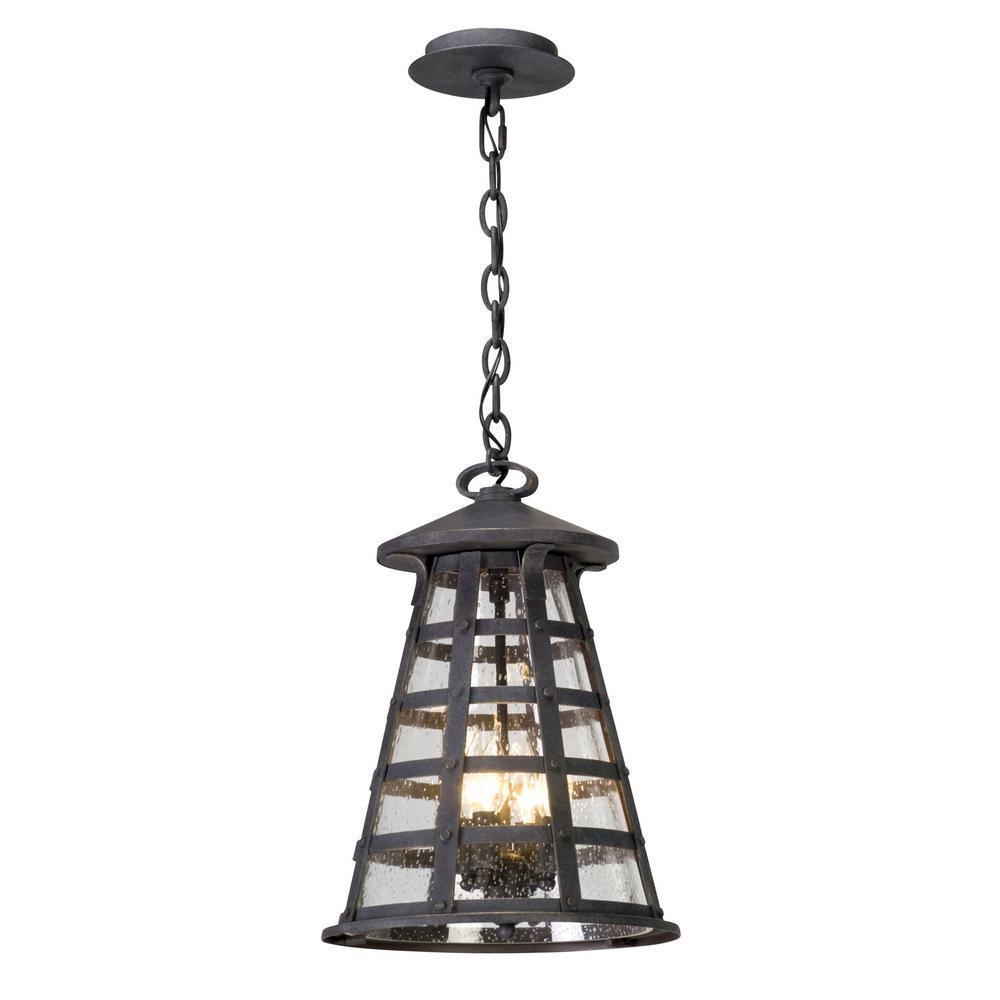 Benjamin 4-Light Vintage Iron Outdoor Pendant