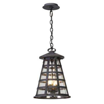 Benjamin 4-Light Vintage Iron Outdoor Pendant
