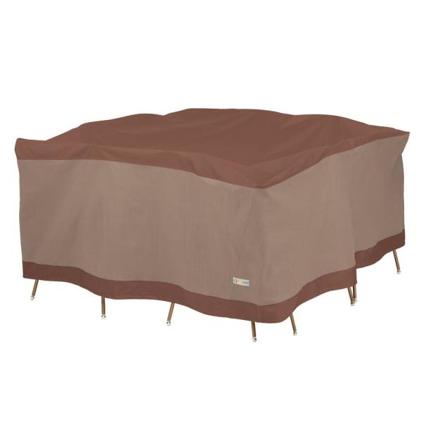 Ultimate 100 in. L x 100 in. W x 32 in. H Square Table and Chair Set Cover