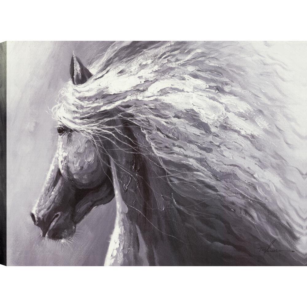 ArtMaison Canada Horse Profile, Animal Art, Canvas Print Wall Art ...