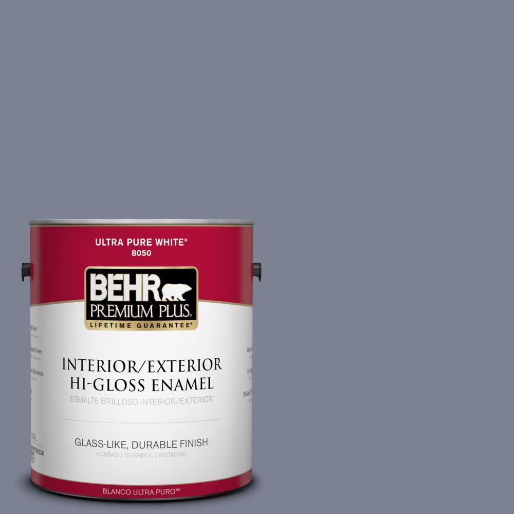 1-gal. #610F-6 Deep Smoke Signal Hi-Gloss Enamel Interior/Exterior Paint