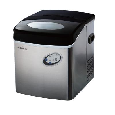 48 lb. Freestanding Ice Maker in Stainless Steel