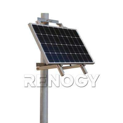 Single Side 27.4 in. Pole Mount Support For Solar Panel